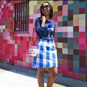 J. Crew gingham paperbag skirt